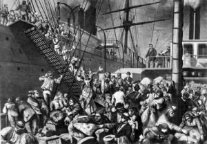 GermanEmigrantsBoardingAShipInHamburg