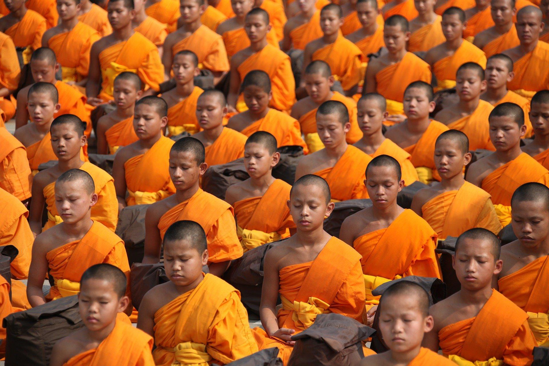 Buddhistische Mönche, Thailand